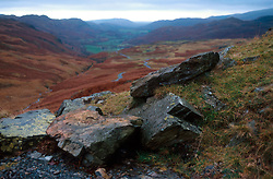 UK ENGLAND CUMBRIA NOV00 - General view of the Hardknott Pass in the Lake District.. . jre/Photo by Jiri Rezac. . © Jiri Rezac 2000. . Tel:   +44 (0) 7050 110 417. Email: info@jirirezac.com. Web:   www.jirirezac.com