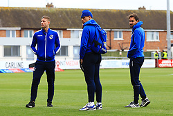 Bristol Rovers players walk around the pitch on arrival at Highbury Stadium - Mandatory by-line: Matt McNulty/JMP - 27/04/2019 - FOOTBALL - Highbury Stadium - Fleetwood, England - Fleetwood Town v Bristol Rovers - Sky Bet League One