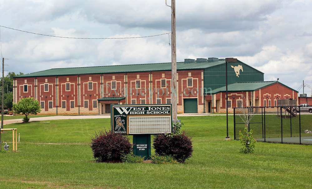 21 May 2015. Laurel, Mississippi.<br /> Tess Holliday background. <br /> West Jones High School in Laurel where Tess went to school for a time.<br /> Photo credit; Charlie Varley/varleypix.com