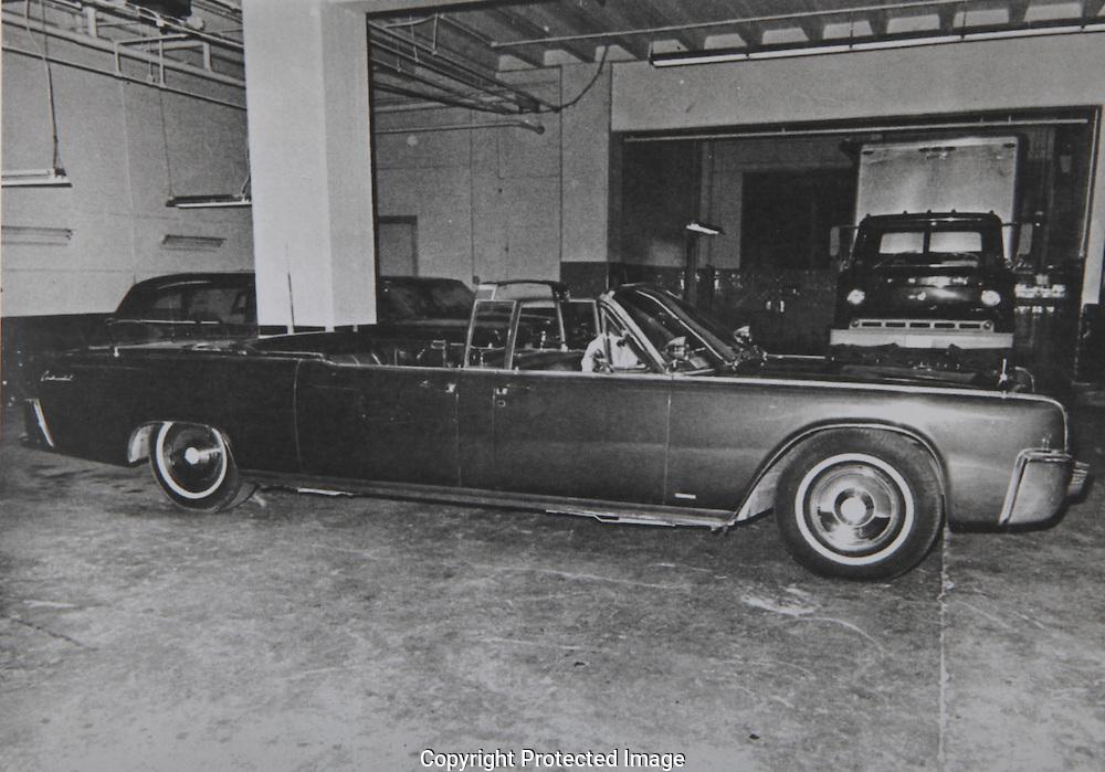Photograph of the Presidential Limousine...Photograph: Warren Commission/ Dennis Brack Archives