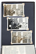 photo album page with vintage wedding images England