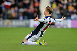 March 9, 2019 - West Bromwich, England, United Kingdom - Stefan Johansen of West Bromwich Albion celebrates scoring his sides first goal during the Sky Bet Championship match between West Bromwich Albion and Ipswich Town at The Hawthorns, West Bromwich on Saturday 9th March 2019. (Credit Image: © Leila Coker/NurPhoto via ZUMA Press)