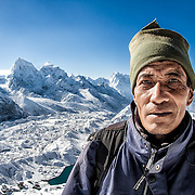 NEPAL. Everest Region, Gokyo Ri. May 8th, 2012. A Sherpa guide.