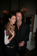 GEORGIANA CAVENDISH AND PETROC SESTI, Cartier launches Inde Mysterieuse. Lancaster House, Stable yard. St. James's. London SW1. 19 September 2007. -DO NOT ARCHIVE-© Copyright Photograph by Dafydd Jones. 248 Clapham Rd. London SW9 0PZ. Tel 0207 820 0771. www.dafjones.com.
