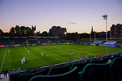 A general view of the Recreation Ground as the sunsets as Bath Rugby kick off the match against Worcester Warriors - Mandatory by-line: Ryan Hiscott/JMP - 09/09/2020 - RUGBY - Recreation Ground - Bath, England - Bath Rugby v Worcester Warriors - Gallagher Premiership Rugby