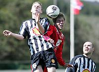 Fotball<br /> La Manga 2006<br /> 20.02.2006<br /> Brann v KR Reykjavik<br /> Foto: Morten Olsen, Digitalsport<br /> <br /> Helge Haugen - Brann<br /> Skuli Jonsson - KR