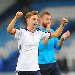 TELFORD COPYRIGHT MIKE SHERIDAN 13/10/2018 - Henry Cowans of AFC Telford celebrates at full time after scoring a late equaliser during the Vanarama National League North fixture between AFC Telford United and Chorley