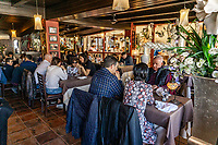 Dining room, Restaurante Playa Bella, Estepona, Malaga Province, Spain, February, 2020, 202002162237<br />