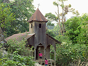 St Josephs church in the ethnic Kayaw village of Yo Co Pra on 27th March 2016 in Kayah State, Myanmar. In the past most people residing in Kayah State were traditional spirit worshippers, but significant numbers have converted to Christianity, especially  Baptists or Catholics