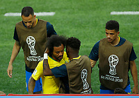 Marcelo (Brazil) gets off injured<br /> Moscow 27-06-2018 Football FIFA World Cup Russia  2018 <br /> Serbia - Brazil / Serbia - Brasile<br /> Foto Matteo Ciambelli/Insidefoto