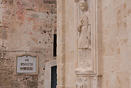 Bas-reluefs in the external part of cathedral