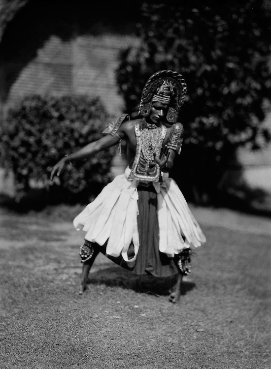 Male Dancer, Ottan Thullal Dance, Trivandrum, India, 1929