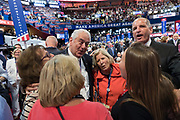GOP Pennsylvania delegates sing a song during the Republican National Convention July 20, 2016 in Cleveland, Ohio.