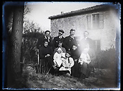 deteriorating family portrait France 1921