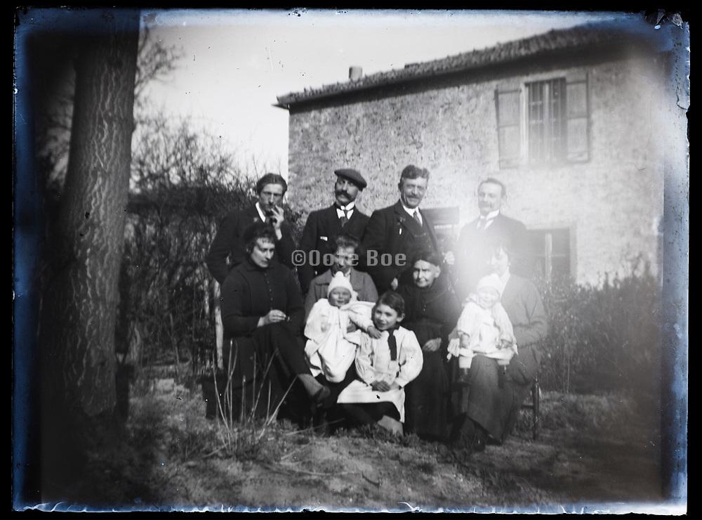 deteriorating family portrait France 1921