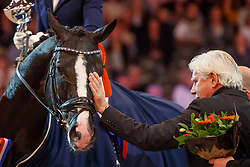 Van Liere Dinja, NED, Total US<br /> KWPN Stallionshow - 's Hertogenbosch 2018<br /> © Hippo Foto - Dirk Caremans<br /> 02/02/2018