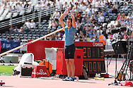 Renaud Lavillenie of France in the pole vault during the Sainsbury's Anniversary Games at the Queen Elizabeth II Olympic Park, London, United Kingdom on 25th July 2015. Photo by Ellie Hoad.