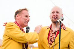 "On Lead Vocals Trumpet and ""Bring Me Sunshine"" Ukulele Mr Ian Clarkson with Alex Douglas..9 September 2012.Image © Paul David Drabble"