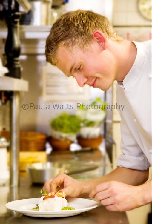 chef, plating, food, dinner, culinary, kitchen, preparing, fish, dish, lifestyle, profession, professional, job, restaurant
