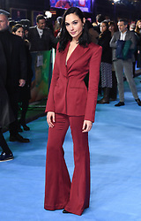 Gal Gadot arriving at the European Premiere of Ralph Breaks The Internet, Curzon Mayfair Cinema, London. Photo credit should read: Doug Peters/EMPICS