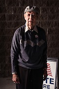 HOOVER, AL – MARCH 1, 2016: Gene Murray, 85, stands at the Hunter Street Baptist Church polling station, where he cast his ballot for Donald Trump.<br /> <br /> On Super Tuesday, voters in the economically vibrant city of Hoover turned out to voice their support for a presidential candidate. Located in the Appalachian foothills, Hoover is the largest suburb of Birmingham and is home to several planned communities with idyllic neighborhoods tailored for the upper middle class. CREDIT: Bob Miller for The Wall Street Journal<br /> OLDCITIES