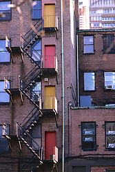 Colored Doors On Building