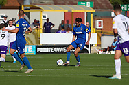AFC Wimbledon defender Will Nightingale (5) passing the ball during the EFL Sky Bet League 1 match between AFC Wimbledon and Shrewsbury Town at the Cherry Red Records Stadium, Kingston, England on 14 September 2019.