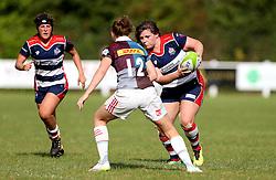 Sasha Acheson of Bristol Ladies runs with the ball - Mandatory by-line: Robbie Stephenson/JMP - 18/09/2016 - RUGBY - Cleve RFC - Bristol, England - Bristol Ladies Rugby v Aylesford Bulls Ladies - RFU Women's Premiership