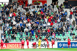 Polish players kicking balls to fans during the UEFA European Under-17 Championship Semifinal match between Germany and Poland on May 13, 2012 in SRC Stozice, Ljubljana, Slovenia. Germany defeated Poland 1-0 and qualified to finals. (Photo by Vid Ponikvar / Sportida.com)