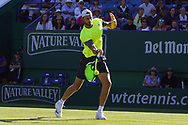 Cameron Norrie (GBR) Vs Daniel Brands (GER) at the Nature Valley International at Devonshire Park, Eastbourne, United Kingdom on 26th June 2018. Picture by Jonathan Dunville.