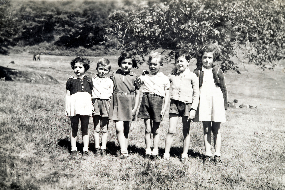 group of little children standing in the rural outdoors France ca 1950s