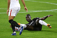 SEVILLE, SPAIN - OCTOBER 28: Sehrou Guirassy of Stade Rennais during the UEFA Champions League Group E stage match between FC Sevilla and Stade Rennais at Estadio Ramon Sanchez-Pizjuan on October 28, 2020 in Seville, Spain. (Photo by Juan Jose Ubeda/ MB Media).