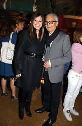 VIDAL SASSOON and his wife RONNIE at a party to celebrate the publication on 'A Year in My Kitchen' by Skye Gyngell held at The Petersham Nurseries, Petesham, Surrey on 19th October 2006.<br /><br />NON EXCLUSIVE - WORLD RIGHTS