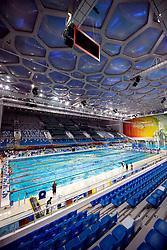 06-08-2008 ZWEMMEN: TRAINING ZWEMPLOEG: BEIJING<br /> Training in het prachtige National Aquatics Center / WaterCube Zwemparadijs<br /> ©2008-WWW.FOTOHOOGENDOORN.NL