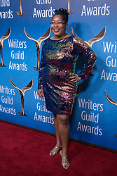 February 17, 2019 - Beverly Hills, California, U.S - Dawn Kamoche in the red carpet of the 2019 Writers Guild Awards at the Beverly Hilton Hotel on Sunday February 17, 2019 in Beverly Hills, California. JAVIER ROJAS/PI (Credit Image: © Prensa Internacional via ZUMA Wire)