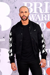Marvin Humes attending the Brit Awards 2019 at the O2 Arena, London. Photo credit should read: Doug Peters/EMPICS Entertainment. EDITORIAL USE ONLY