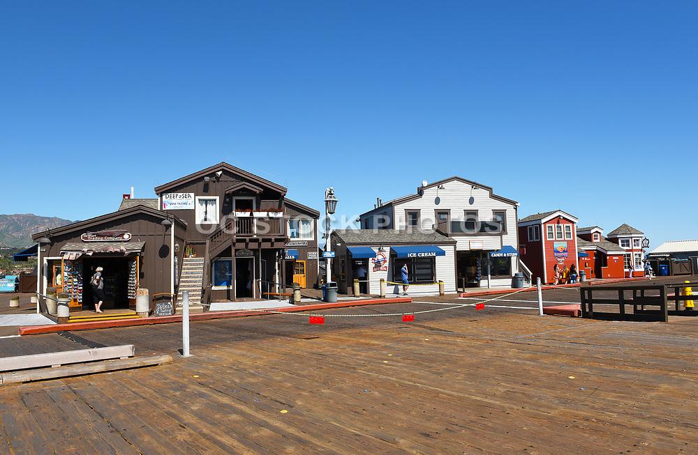 Shops on the Wharf's Famous Boardwalk in Santa Barbara