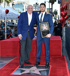 Michael Buble Hollywood Walk of Fame Star Ceremony held in front of W Hotel on November 16, 2018 in Hollywood, CA. © LuMarPhoto/AFF-USA.com. 16 Nov 2018 Pictured: Michael Buble and Publicist. Photo credit: LuMarPhoto/AFF-USA.com / MEGA TheMegaAgency.com +1 888 505 6342