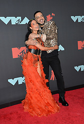 August 26, 2019, New York, New York, United States: Halsey and French Montana arriving at the 2019 MTV Video Music Awards at the Prudential Center on August 26, 2019 in Newark, New Jersey  (Credit Image: © Kristin Callahan/Ace Pictures via ZUMA Press)