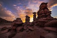 Desert sunrise at Recapture Pocket, Utah
