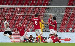 Målscorer Dries Mertens (Belgien) jubler efter målet til 0-2 under UEFA Nations League kampen mellem Danmark og Belgien den 5. september 2020 i Parken, København (Foto: Claus Birch).