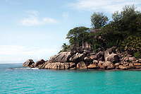 famous and beautiful beach of anse Lazio at Praslin one of the seychelles island