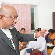 CAPTION: Dr Jagannath Hembrom is the Medical Officer-in-Charge in Chaibasa in the Jharkhand district of West Singhbhum. The facility here is recognized as the best clinic in the state. In addition to FLWs, he also trains medical officers and outreach workers. He is particularly passionate about working with adolescents. He also serves as a referral point, where sahiyas are unable to answer adolescents' particular questions or meet their particular needs. Dr Jagannath has even been recognized for his training talents at the national level. LOCATION: Ghatshila Community Health Centre (CHC), Purbi Singhbhum (district), Jharkhand (state), India. INDIVIDUAL(S) PHOTOGRAPHED: Dr Jagannath Hembrom.