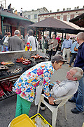 Grill on the street, Nowy Square, Cracow, Poland