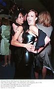 Minnie Driver & Charlize Theron at the Vanity Fair Oscar night Party Ô99.Mortons, Los Angeles.28/3/99. © Copyright Photograph by Dafydd Jones<br />66 Stockwell Park Rd. London SW9 0DA<br />Tel 0171 733 0108