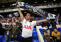 Football - 2016 / 2017 Premier League - Tottenham Hotspur vs. Manchester United<br /> <br /> A Tottenham fan says farewell with his scarf at White Hart Lane.<br /> <br /> COLORSPORT/ANDREW COWIE