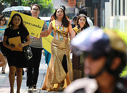 April 25, 2017 - Thailand - The activists from Amnesty International Thailand gathered in front of embassy of the Philippines in Bangkok protesting the letter to the embassy on the War on Drugs policy which causes a numerous amount of deaths to the citizen of Philippines. (Credit Image: © Vichan Poti/Pacific Press via ZUMA Wire)