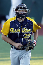 08 July 2017:  Kendall Patrick during a Frontier League Baseball game between the Traverse City Beach Bums and the Normal CornBelters at Corn Crib Stadium on the campus of Heartland Community College in Normal Illinois
