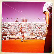 Roland Garros 2011. Paris, France. May 28th 2011..Belgian player Yamina WICKMAYER against Agnieszka RADWANSKA on the Court Suzanne Lenglen