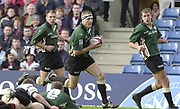 Sport - Rugby 27/04/2002 Parker Pen Shield - Semi-Final<br />London Irish vs Pontypridd - Kassam Stadium - Oxford<br />[L] Justin BISHOP, Michael Horak runs in for a try, [R] Geoff APPLEYARD,
